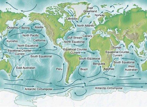 Визуализация бесконечного танца океанских течений.
