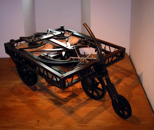 Автомобиль по эскизам Леонардо да Винчи