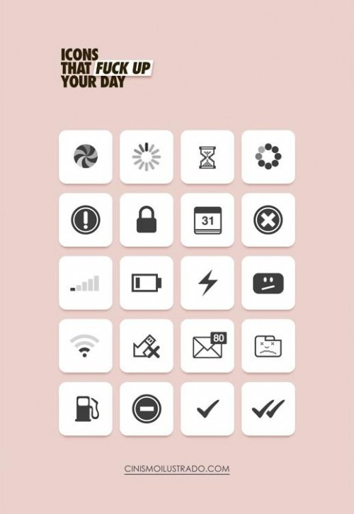 Иконки, которые портят твой день.