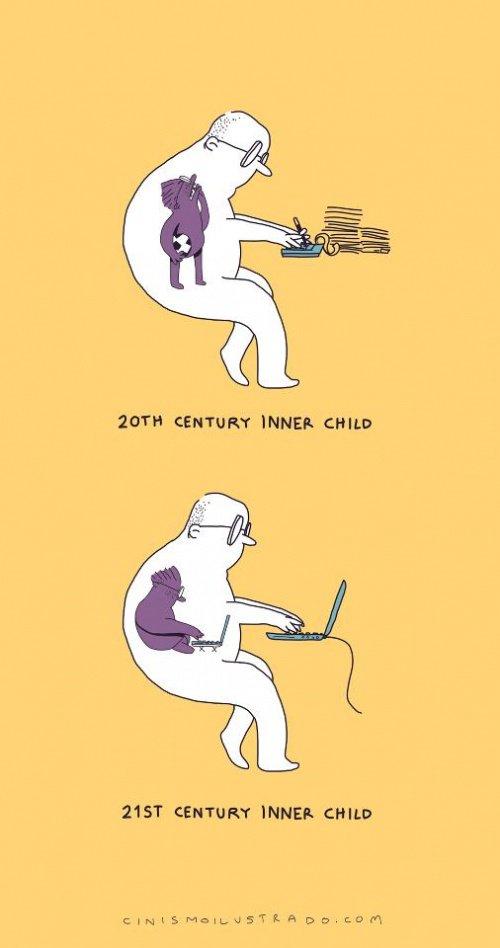 Внутренний ребенок в 20 веке и в 21.