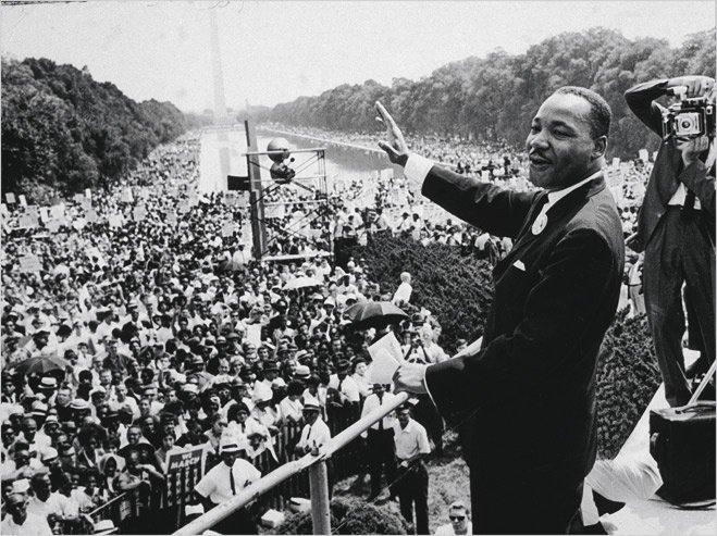 Выступление Мартина Лютера Кинга в Вашингтоне. 1963 год