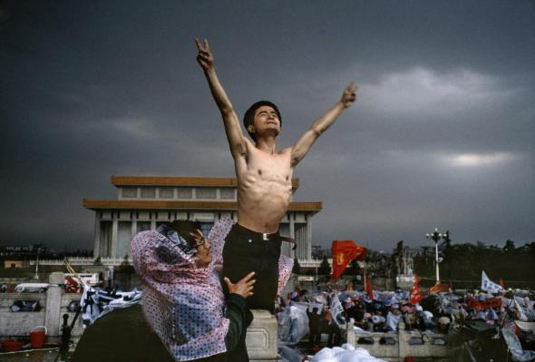 палаточный городок на главной площади Пекина 2