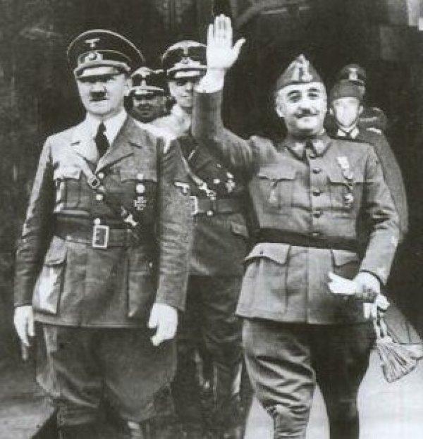 Франкo Франсиско с Адольфом Гитлером