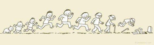 Человек бежит по жизни