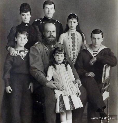 Александр III с детьми