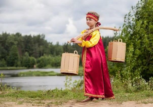 девочка век назад в деревне